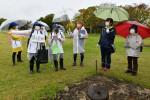 児童が解説、御所野遺跡 一戸南小の少年団、ガイド挑戦
