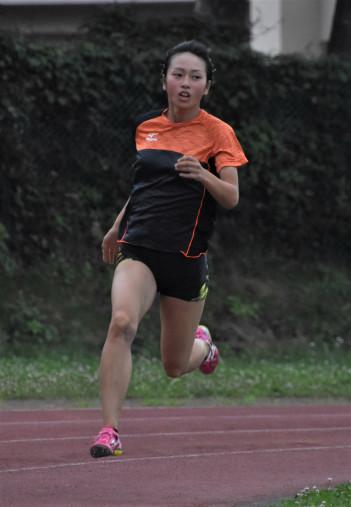今季、目覚ましい活躍を見せている山田美来(日体大)。「周りを驚かすような走りをしたい」とさらなる飛躍を誓う=盛岡市
