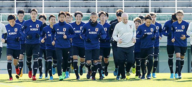 東アジアE-1選手権に向け調整するサッカー日本代表=味の素フィールド西が丘