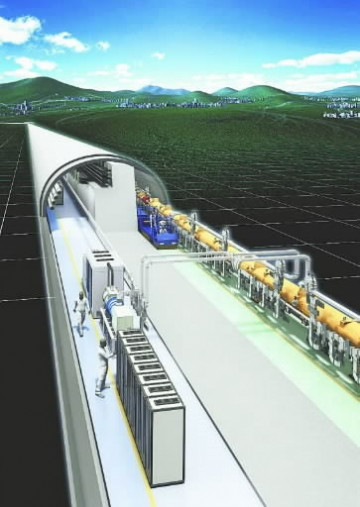 ILCのイメージ図(Rey.Hori/高エネルギー加速器研究機構)