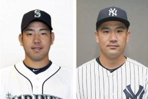 マリナーズの菊池雄星投手、ヤンキースの田中将大投手